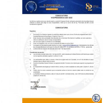Convocatoria: VICEPRESIDENCIA 2021-2023