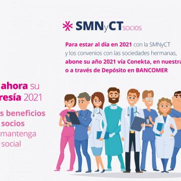 Membresías SMNyCT – ALAT – ERS 2021: renueve ahora y mantenga sus beneficios completos