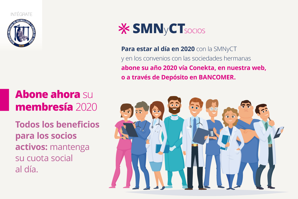 Mantenga su membresía SMNyCT – ALAT – ERS activa para 2020