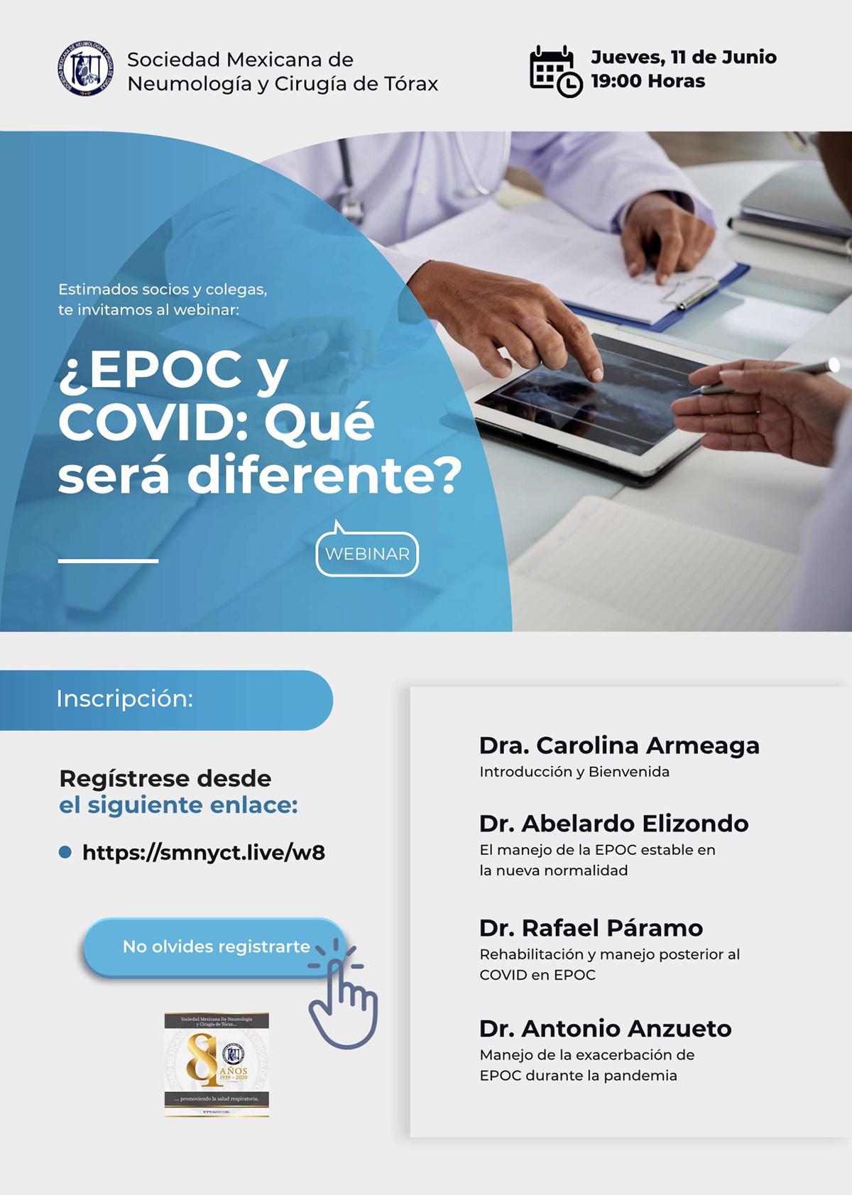 Webinar EPOC y COVID: ¿Qué será diferente?