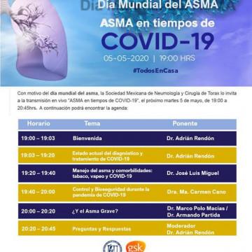 Webinar Día Mundial del Asma, 5 de mayo
