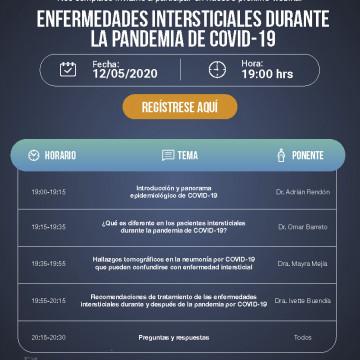 Webinar: Enfermedades intersticiales durante la pandemia del COVID-19