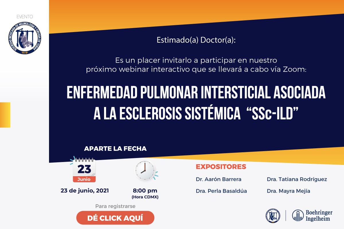 "Enfermedad pulmonar intersticial asociada a la esclerosis sistémica ""Ssc-ILD"""