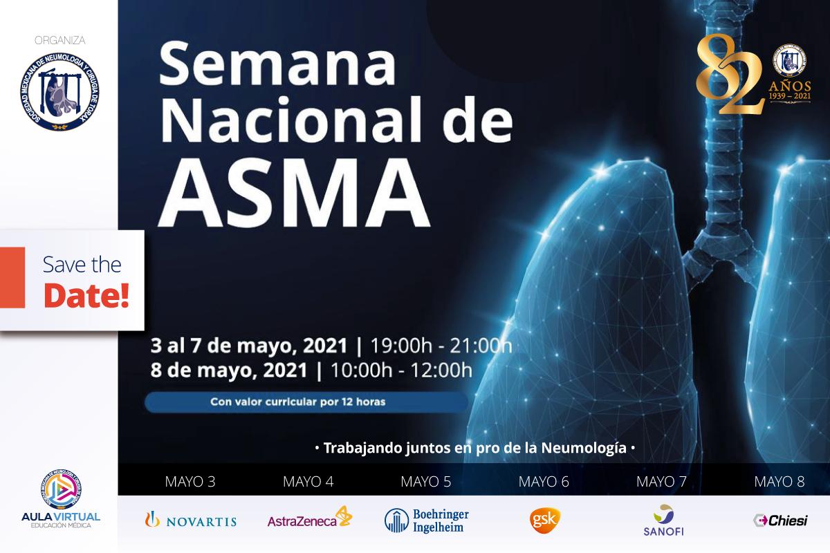 Semana Nacional del Asma 2021, 3 al 8 de mayo